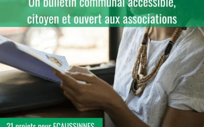 Un bulletin communal accessible, citoyen et ouvert aux associations