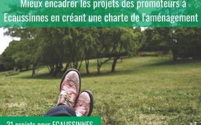 Mieux encadrer les projets des promoteurs à Ecaussinnes en créant une charte de l'aménagement